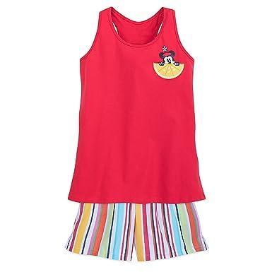 3eab6067ab7a16 Disney Minnie Mouse Summer Fun Pajama Set for Women - Minnie Family  Sleepwear Size 2XL