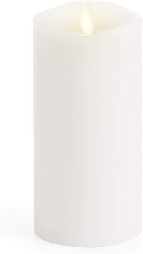 Amazon Com Luminara Flameless Pillar Candle Large 6 5 Inches Unscented Flickering Real Flame Effect Melted Edge Smooth Wax Led Battery Operated Candles Home Improvement
