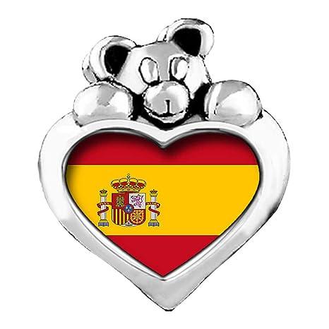 1d9a03050f45 Bandera de España luz amatista cristal Junio Birthstone I Love You ...