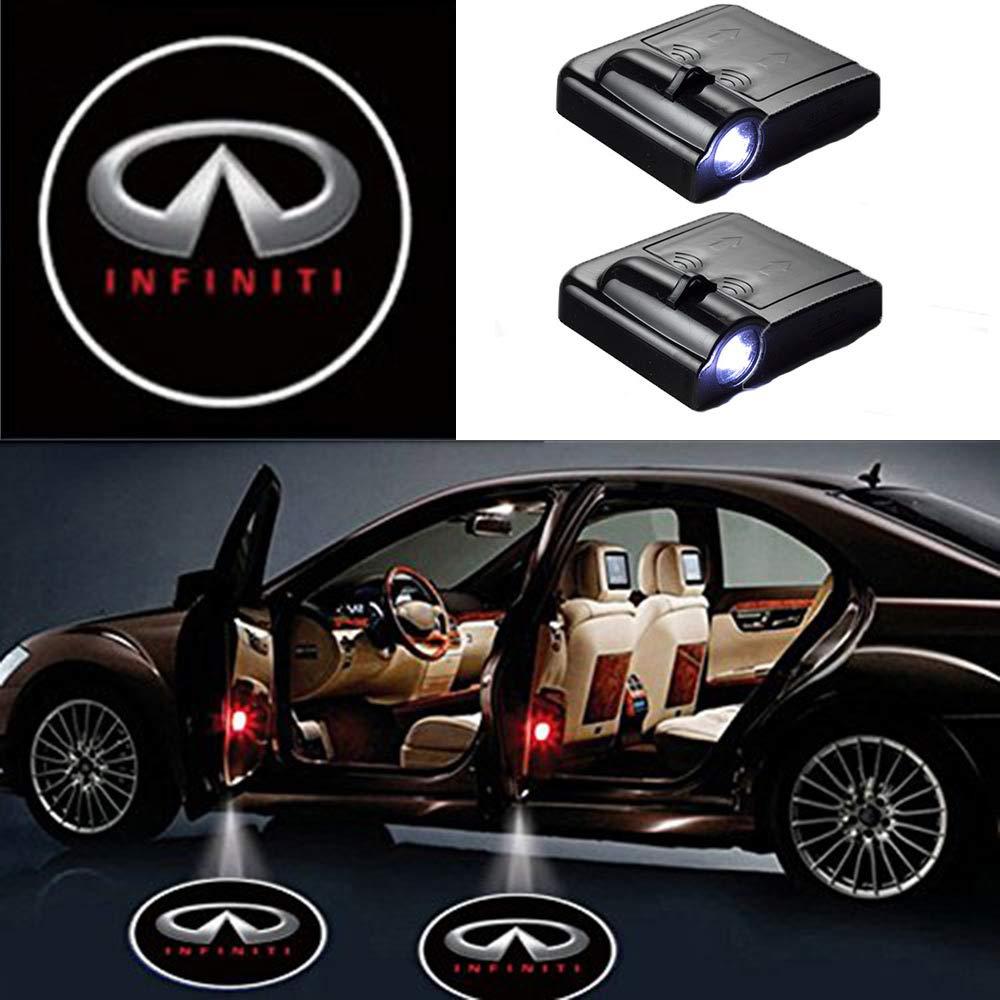 MIVISO 2pcs Auto Universale proiezione LED proiettore Porta Shadow Logo Benvenuto Luce lampade luci di cortesia Kit Magnete sensore Senza Fili