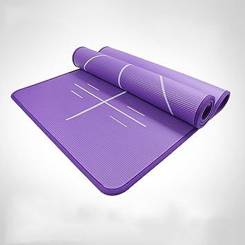 Mats QFFL Estera de Yoga/Estera Antideslizante de la Aptitud ...