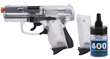 amazon com walther p99 compact 6mm airsoft clear bb gun