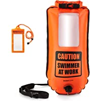 BUDDYSWIM Boya de Seguridad para Natación en Aguas Abiertas de 28 litros. Incluye Funda Estanca para el Móvil. Color…