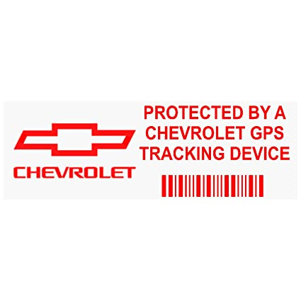 5 x ppchevroletgpsred gps-red-tracking dispositivo seguridad ventana pegatinas 87 x 30 mm