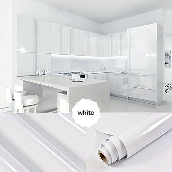 Kinlo 5x0 61 m pvc küchenschrank aufkleber selbstklebend küchenfolie klebefolie schrankfolie deko tapeten rollen