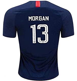 afa78c06c0d Morgan #13 USA National Alex 2018-2019 Womens Away Football Soccer T-Shirt