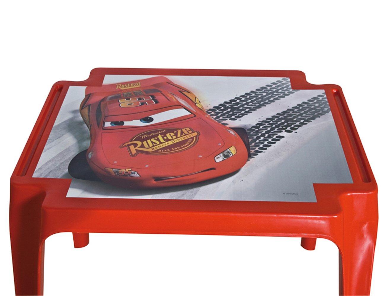 50 x 55 x 45 cm Clementoni Progarden 945 Cars Tavolo per Bambini Cars Rosso