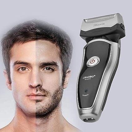 Potente maquinilla de afeitar eléctrica recargable inalámbrica ...