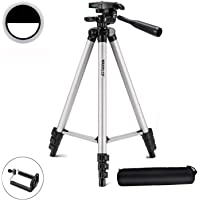 Marklif® Adjustable Aluminium Alloy Tripod Stand Holder for Mobile Phones with Ring Light.