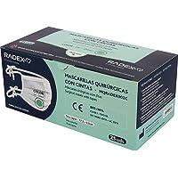 RADEX 85005120. Caja de 25 Mascarillas Quirúrgicas con Cintas Tipo IIR, Color Verde, BFE 98%, Certificadas CE…