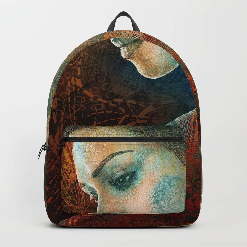 Society6 Backpack, Tribute to Hokusai by Hubert_fine_Art, Standard Size