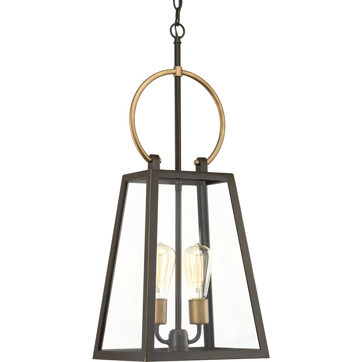Progress Lighting P550028-020 Barnett Hanging Lantern, Brown