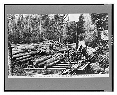 Historic Print (L): Logging camp in the Kentucky mountains / Wrenn & King, Le...