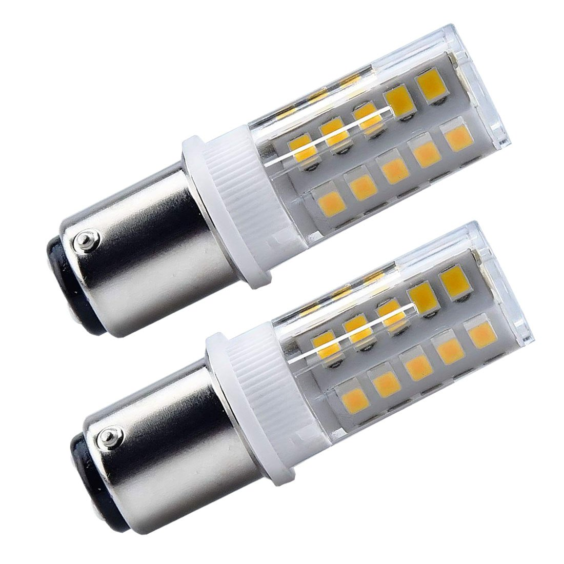 Akaiyal Ba15d Bombilla LED de 3.5W AC/DC 24V 2835 SMD SBC Bayoneta de Contacto Doble Lámpara de Luz Fría Blanca 6000K para Interior RV Iluminación ...