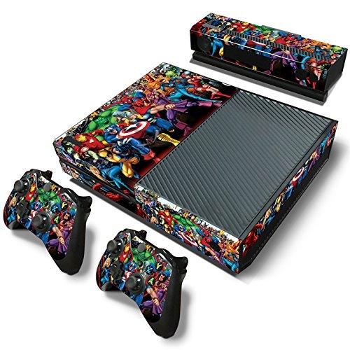 (FriendlyTomato Xbox One Console and Wireless Controller Skin Set - SuperHero - XboxOne Vinyl)