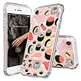 iPhone 7 Case, Clear iPhone 7 Case, MOSNOVO iPhone 7 Cute Sushi Design Printed Clear Plastic Hard Back Panel Case With Protective Shock Proof TPU Bumper Gel Case Cover for iPhone 7 4.7 Inch