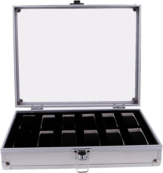 FITYLE Caja De Reloj De Aluminio Organizador Almacenamiento De La ...