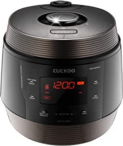 Cuckoo, Browning Fry, Steamer, Warmer, Yogurt, Soup Maker-Stainless Steel, Incl Multifunctional Rice Cooker, 5 Quarts, Black