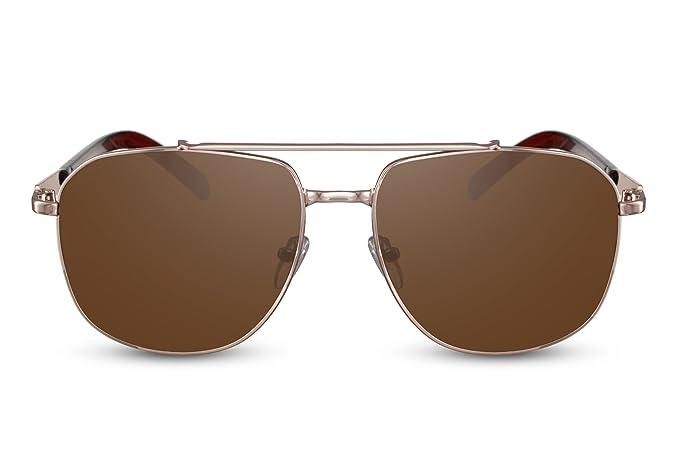 Cheapass Gafas de Sol Piloto Plateadas UV400 Montura Metálica Hombre Mujer