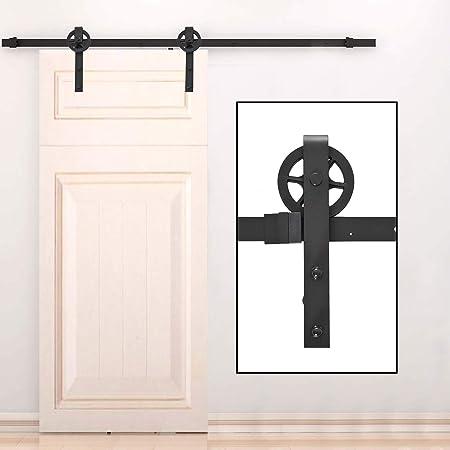 HOMCOM Puertas Kit de Accesorios para Puerta Correderas de Granero ...