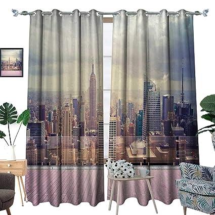 Amazon.com: Modern Blackout Window Curtain New York City USA ...