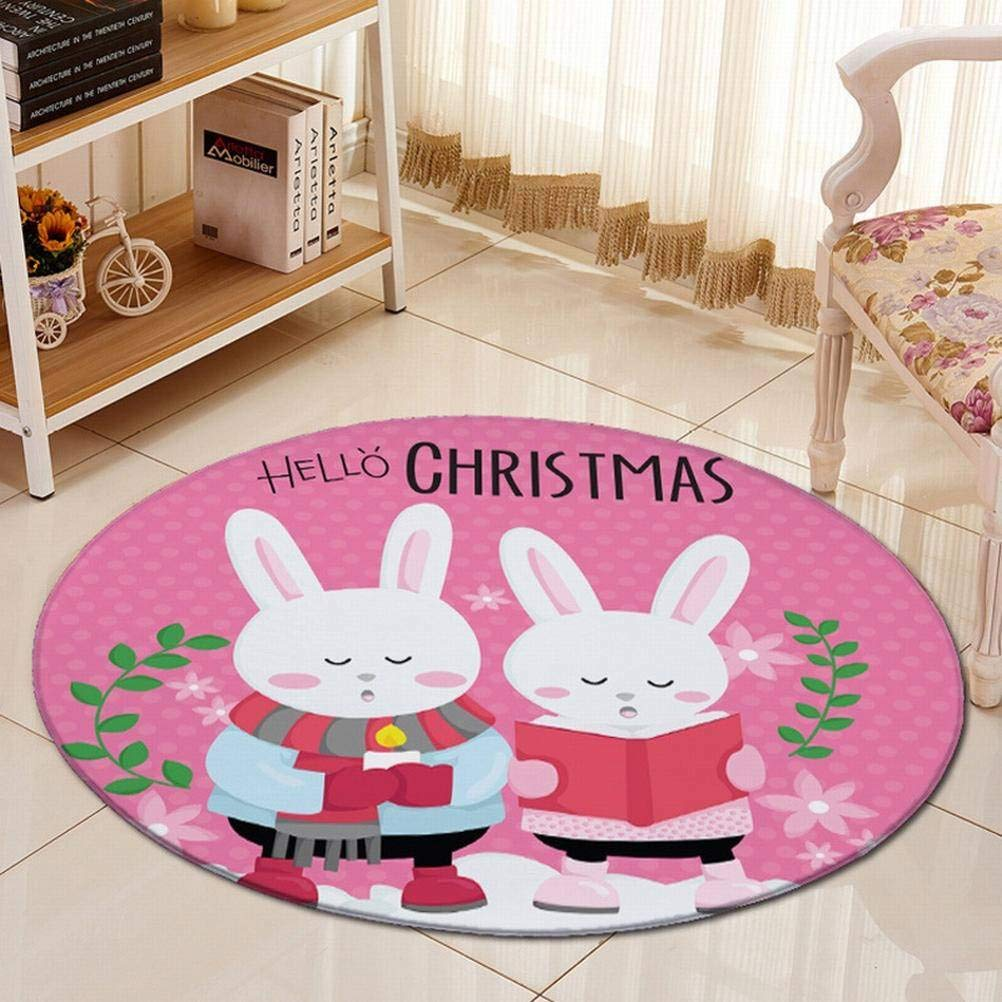 G_flow Tapis Rond Dessin Animé Enfants CouGrünure Salon Chambre Chambre Lit Table De Chevet Table Basse Suspendu Panier Tapis De Chaise Ordinateur, Rosa, 150cm de diamètre (59.0inch) B07NP9VNFT Spiel- & Krabbeldecken, Spielbögen Große Auswah