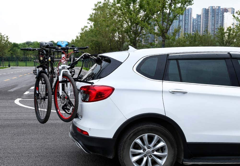 Carbon Steel Material Suitable for Family Driving,threebicycles Car Trunk Bike Rack Can Carry 3 Cars
