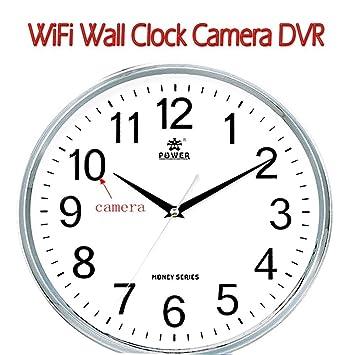 Ongs Wifi Hd Wall Clock Hidden Spy Camera Security Video Camera