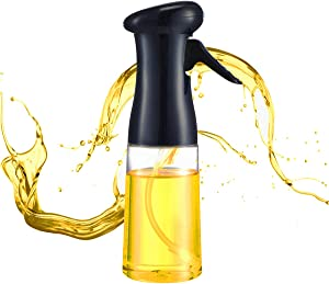 Olive Oil Sprayer for Cooking, Olive Oil Sprayer, Oil Sprizer for Air Fryer Peanut Oil Spray Bottle Mist Air Sprayers Oil Sprayer Dispenser for Cooking, Baking, Grilling, Salad, 7oz/210ml