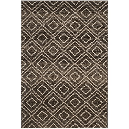 Safavieh TUN293B-3 Tunisia Collection and Crème Area Rug, 3′ x 5′, Brown For Sale