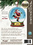 Dimensions Crafts Counted Cross Stitch Ornament, Joy Snow Globe