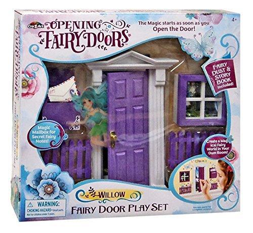 Cra-Z-Art Opening Fairy Doors Pretend Playset, Purple - Willow ()