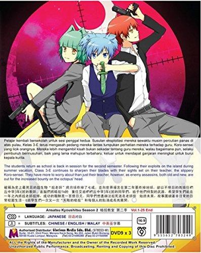 Ansatsu Kyoushitsu Season 2 (TV 1 - 25 End) (DVD, Region All) English Subtitles Japanese Anime