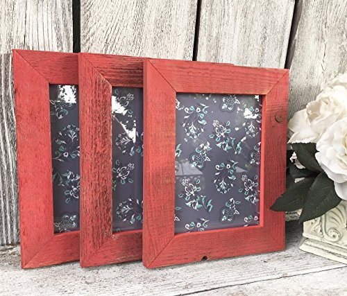 Amazoncom Red Barnwood Frame Collection Natural Reclaimed Barn