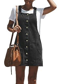 4c5a1d47152 Salopette Jupe Jeans Femme Robes en Jean Robe ete Coton Mini Femmes ...