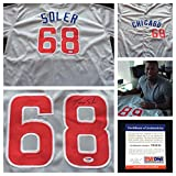 Jorge Soler Chicago Cubs Signed Autograph Gray Baseball Jersey. #68 PSA/DNA