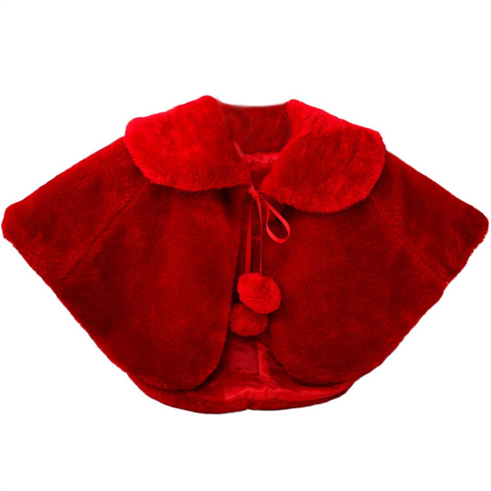 Kidlove Stole Bolero Shrug Wrap For Shows, Communion, Pageant (Red, 3-4Year)