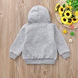 Baby Outfits for Girls 6-9 Months,Toddler Kids Baby Girls Boys Long Sleeve Cartoon Rabbit Hooded Sweatshirt Tops,Baby Girls' Sleepwear & Robes,Gray,130
