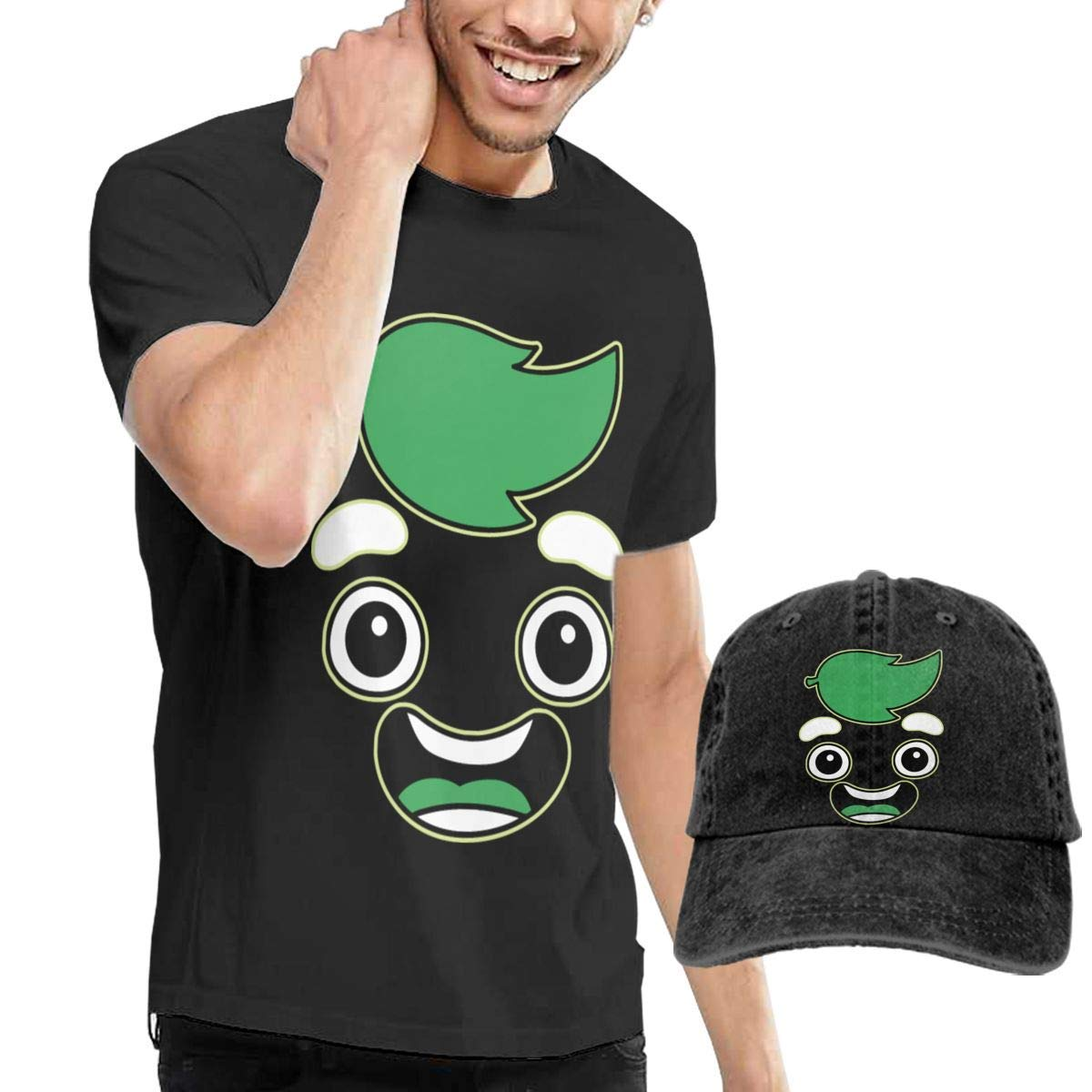QQWBB Guava Juice 1 T-Shirt Short Sleeve Denim Hat Men