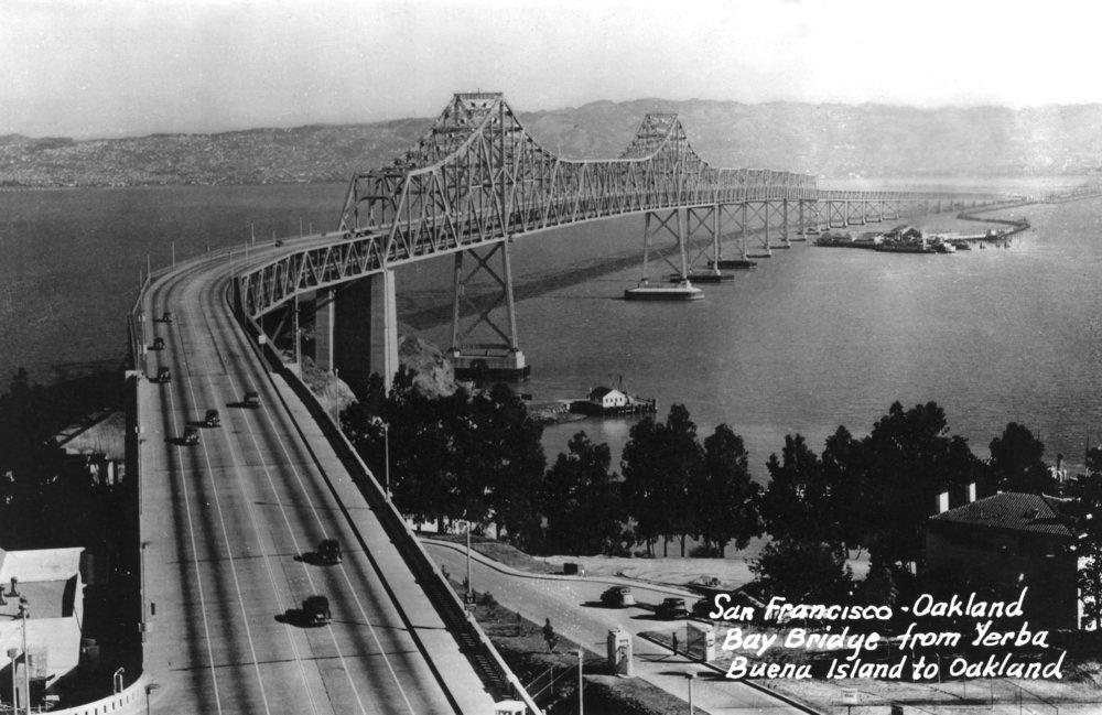 San Francisco , CAベイブリッジとYerba Buena島写真 36 x 54 Giclee Print LANT-3314-36x54 36 x 54 Giclee Print  B01MG3OFJX