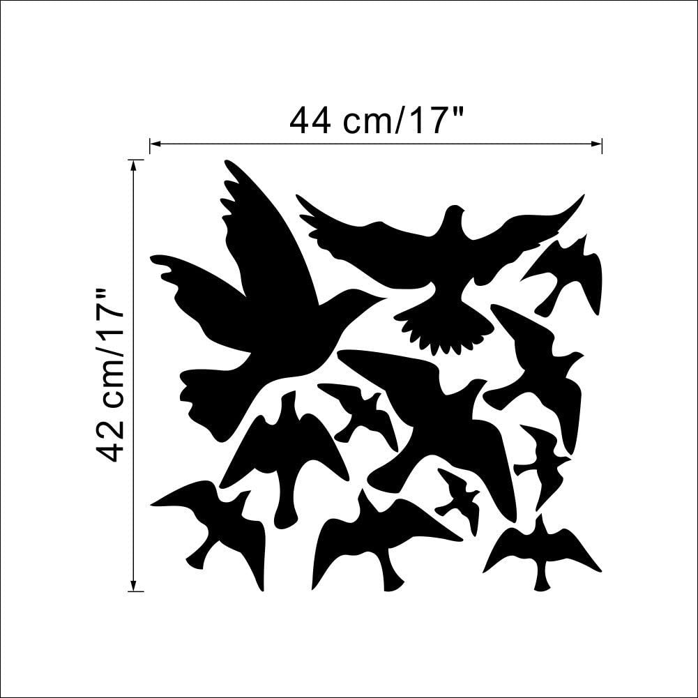 Noir: Oiseaux 44*42 Annong DIY Stickers Sticker Mural Autocollants D/écoration B/ébe Chambre D/éco
