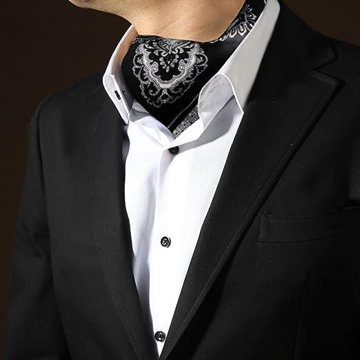LIANGJUN Hombres Corbata Elegent Seda Corbata Bufanda Ocasiones Formales Camisa Bufanda Boda Oficina, Negro, 52X52cm: Amazon.es: Jardín