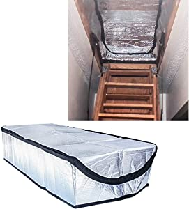 Air Jade Attic Stairs Ladder Insulation Pull Down Tent Cover, 25'' x 54'' x 11'',Attic Stairway Insulator, Heat Insulation and Draft Block, R-Value of 14.5