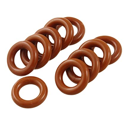 Uxcell a12041800ux0184 8mm x 14mm x 3mm 10 Piece Brick Red Flexible Silicone O Ring Seal Washer