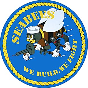 Navy Seabee Spare Tire Cover for Jeep RV Camper Trailer etc(Select Popular Sizes from Drop Down menu or Contact us from TireCoverCentral