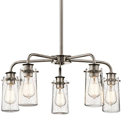Kichler 43058clp braelyn 25 5 light chandelier in classic pewter kichler 43058clp braelyn 25quot 5 light chandelier in classic pewter aloadofball Choice Image