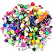 Moonlight Wholesale Lot of 100 14G Mixed Belly Button Navel Rings Barbells Body Piercing