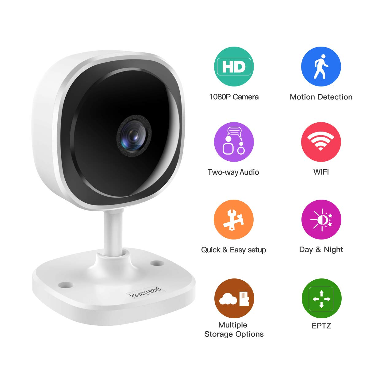 1080P Wireless Security Camera System, NexTrend 24/7 Monitor Camera System for Business/Home/Office