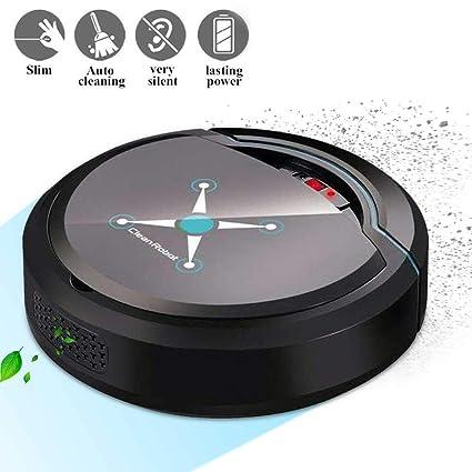 lesgos Robot Aspirador Inteligente, Sensores Inteligentes de succión Fuerte Autocarga Robot Inteligente Aspirador automático Limpiador de Pisos para ...