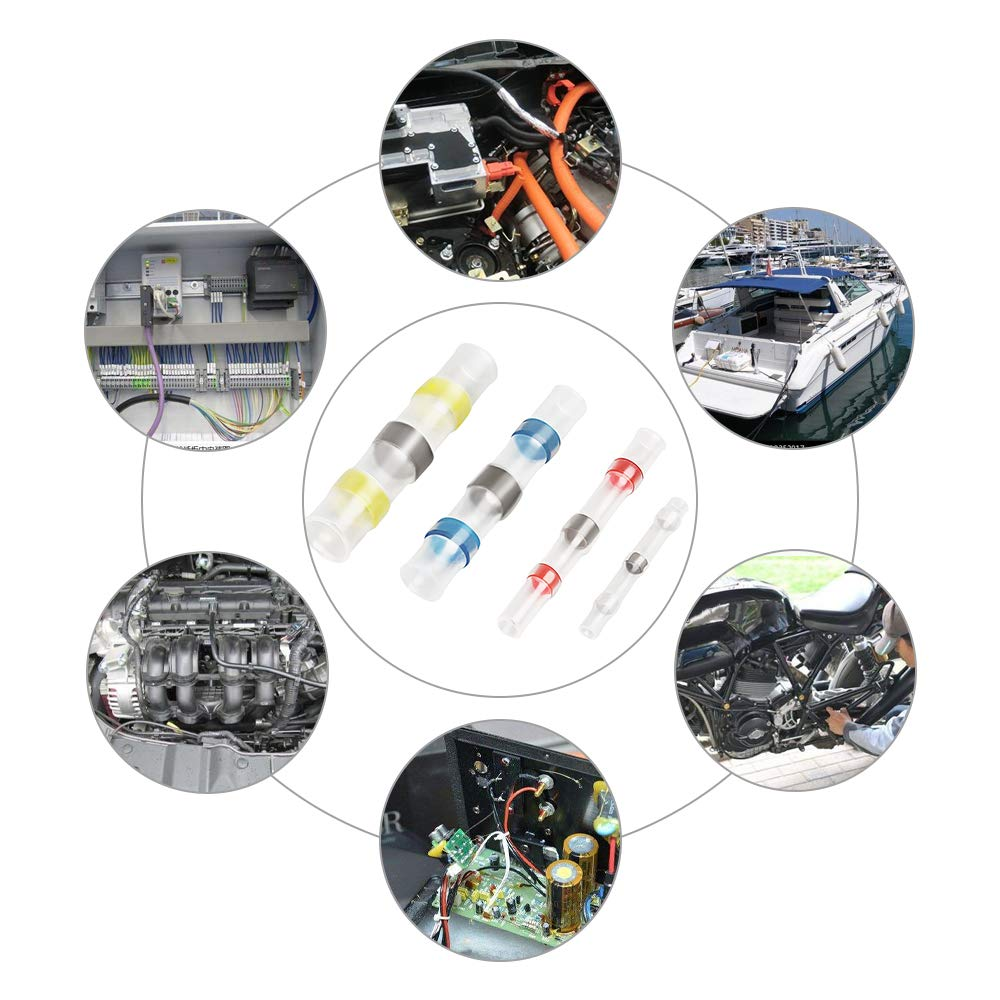 800PCS Solder Seal Wire Connectors-HaisstronicaWaterproof Solder Wire Connectors-Heat Shrink Solder Connec,ElectricalWire Connectorsfor Aircraft Boat Truck Stereo(220WHITE,380RED,160BLUE,40YELLOW) by haisstronica (Image #6)